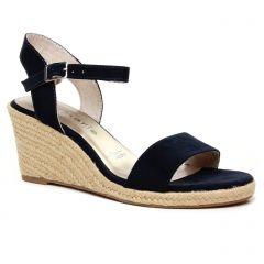espadrilles-compensees bleu marine: même style de chaussures en ligne pour femmes que les Tamaris