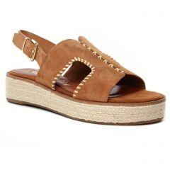 espadrilles-compensees marron: même style de chaussures en ligne pour femmes que les Tamaris