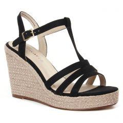 espadrilles-compensees noir: même style de chaussures en ligne pour femmes que les Tamaris