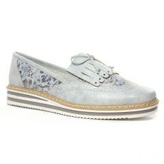 mocassins gris argent: même style de chaussures en ligne pour femmes que les Rieker
