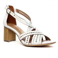 nu-pieds-brides blanc: même style de chaussures en ligne pour femmes que les Tamaris