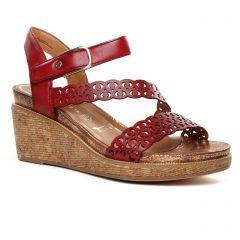 nu-pieds-talons-compenses bordeaux: même style de chaussures en ligne pour femmes que les Tamaris