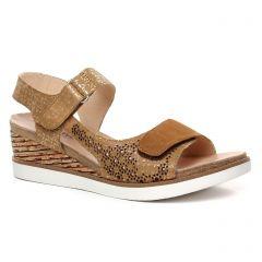 Fugitive Nenuf Cognac : chaussures dans la même tendance femme (nu-pieds-talons-compenses marron) et disponibles à la vente en ligne