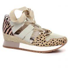 nu-pieds-talons-compenses multicolore: même style de chaussures en ligne pour femmes que les Rieker