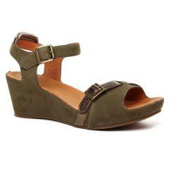 Chaussures femme été 2020 - nu-pieds compensés Mamzelle vert kaki