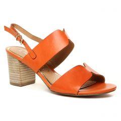 nu-pieds marron orange: même style de chaussures en ligne pour femmes que les Marco Tozzi
