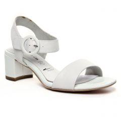nu-pieds-talon blanc: même style de chaussures en ligne pour femmes que les Tamaris