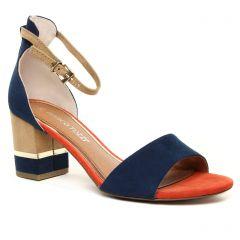 Chaussures femme été 2020 - nu-pieds talon marco tozzi bleu