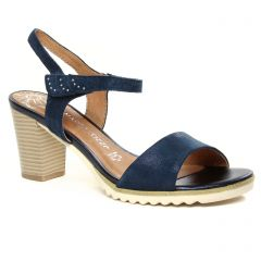 nu-pieds-talon bleu marine: même style de chaussures en ligne pour femmes que les Marco Tozzi