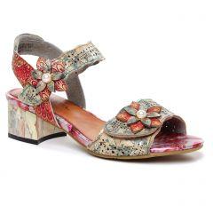nu-pieds-talon rose multi: même style de chaussures en ligne pour femmes que les Laura Vita
