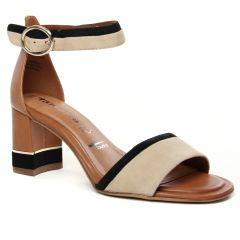 nu-pieds-talons-hauts beige noir: même style de chaussures en ligne pour femmes que les Tamaris