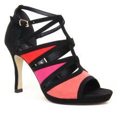 nu-pieds-talons-hauts noir multi: même style de chaussures en ligne pour femmes que les Tamaris