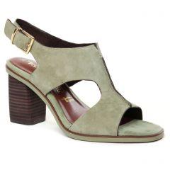 nu-pieds-talons-hauts vert kaki: même style de chaussures en ligne pour femmes que les Tamaris