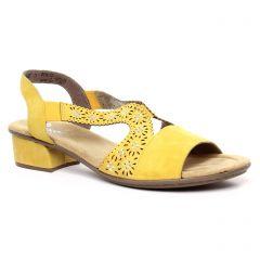 nu-pieds-trotteurs jaune: même style de chaussures en ligne pour femmes que les Rieker