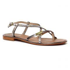 sandales beige argent: même style de chaussures en ligne pour femmes que les Tamaris