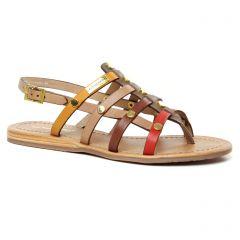 sandales beige multi: même style de chaussures en ligne pour femmes que les Les Tropéziennes