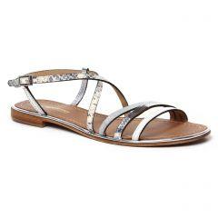 sandales blanc argent: même style de chaussures en ligne pour femmes que les Les Tropéziennes