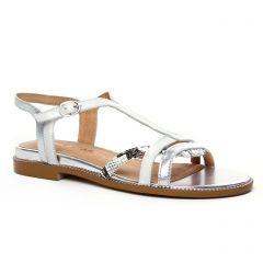 Chaussures femme été 2020 - sandales Émilie Karston blanc argent