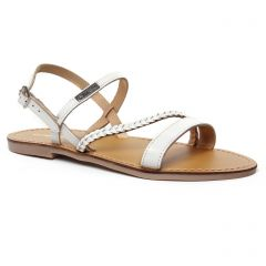 Les Tropéziennes Batresse Blanc : chaussures dans la même tendance femme (sandales blanc) et disponibles à la vente en ligne