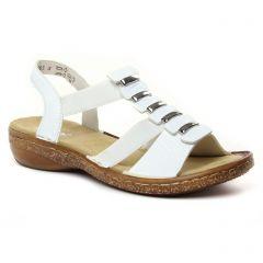 Chaussures femme été 2020 - sandales rieker blanc