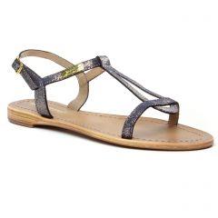 sandales bleu irisé: même style de chaussures en ligne pour femmes que les Les Tropéziennes