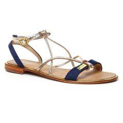 sandales bleu marine or: même style de chaussures en ligne pour femmes que les Les Tropéziennes