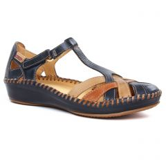 sandales bleu marine: même style de chaussures en ligne pour femmes que les Pikolinos