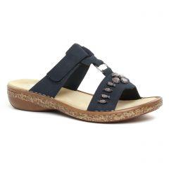 Chaussures femme été 2020 - sandales rieker bleu marine