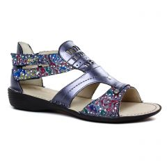 sandales bleu metal: même style de chaussures en ligne pour femmes que les Rieker