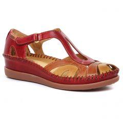 Chaussures femme été 2020 - sandales Pikolinos bordeaux