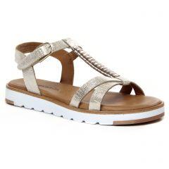 sandales-compensees beige doré: même style de chaussures en ligne pour femmes que les Fugitive