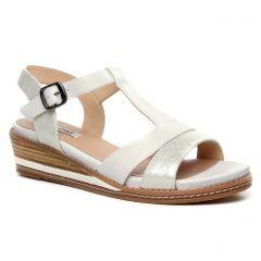 sandales-compensees blanc: même style de chaussures en ligne pour femmes que les Fugitive