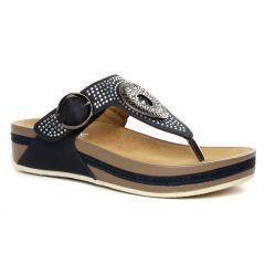 sandales-compensees bleu nuit: même style de chaussures en ligne pour femmes que les Remonte