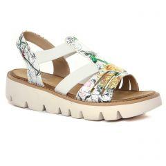 sandales-compensees gris multi: même style de chaussures en ligne pour femmes que les Rieker