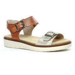 sandales-compensees marron argent: même style de chaussures en ligne pour femmes que les Remonte