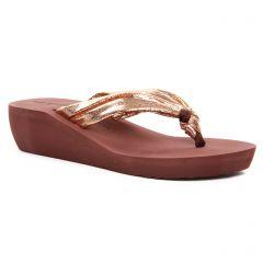 Chaussures femme été 2020 - sandales compensées Gioseppo marron doré