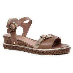 Chaussures femme été 2020 - sandales compensées Mamzelle marron