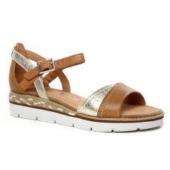 sandales-compensees marron or: même style de chaussures en ligne pour femmes que les Caprice