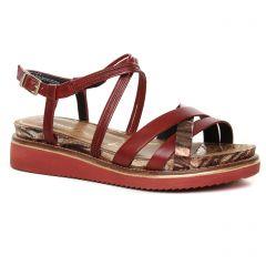 sandales-compensees bordeaux: même style de chaussures en ligne pour femmes que les Caprice