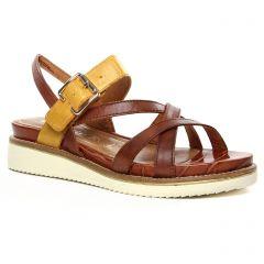 sandales-compensees marron: même style de chaussures en ligne pour femmes que les Tamaris
