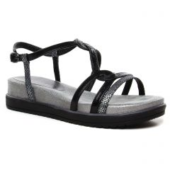 sandales-compensees noir argent: même style de chaussures en ligne pour femmes que les Les Tropéziennes