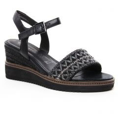 sandales-compensees noir: même style de chaussures en ligne pour femmes que les Rieker