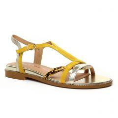 sandales jaune argent: même style de chaussures en ligne pour femmes que les Les Tropéziennes