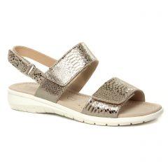 sandales marron doré: même style de chaussures en ligne pour femmes que les Caprice