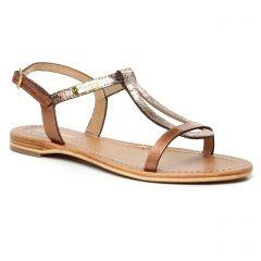 Chaussures femme été 2020 - sandales les tropéziennes marron doré