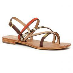 sandales rouge marron: même style de chaussures en ligne pour femmes que les Les Tropéziennes