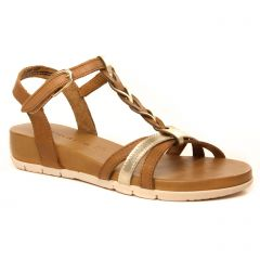 sandales marron or: même style de chaussures en ligne pour femmes que les Tamaris