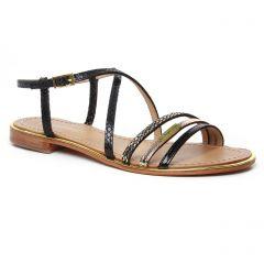 Chaussures femme été 2020 - sandales les tropéziennes noir argent