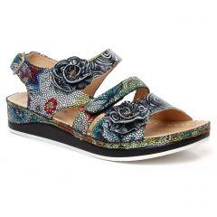 Chaussures femme été 2020 - sandales Laura Vita noir multi