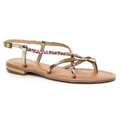 Chaussures femme été 2020 - sandales les tropéziennes rose doré